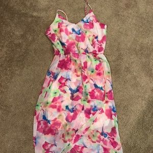 Floral maxi dress worn only a couple times